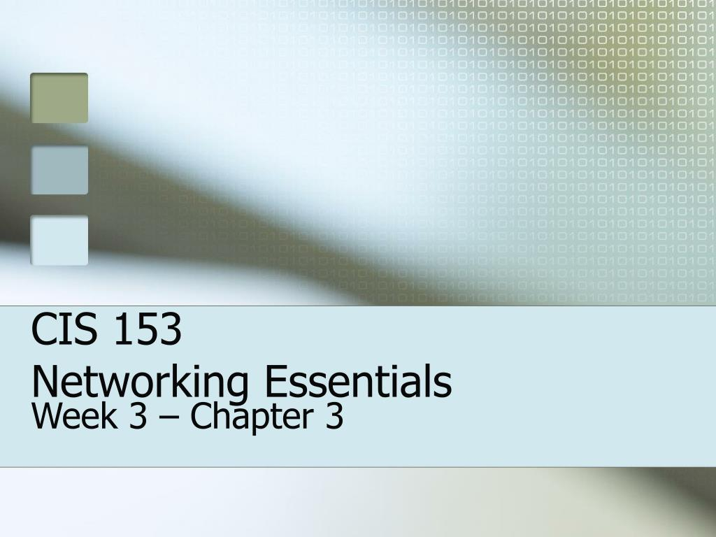 cis 153 networking essentials l.