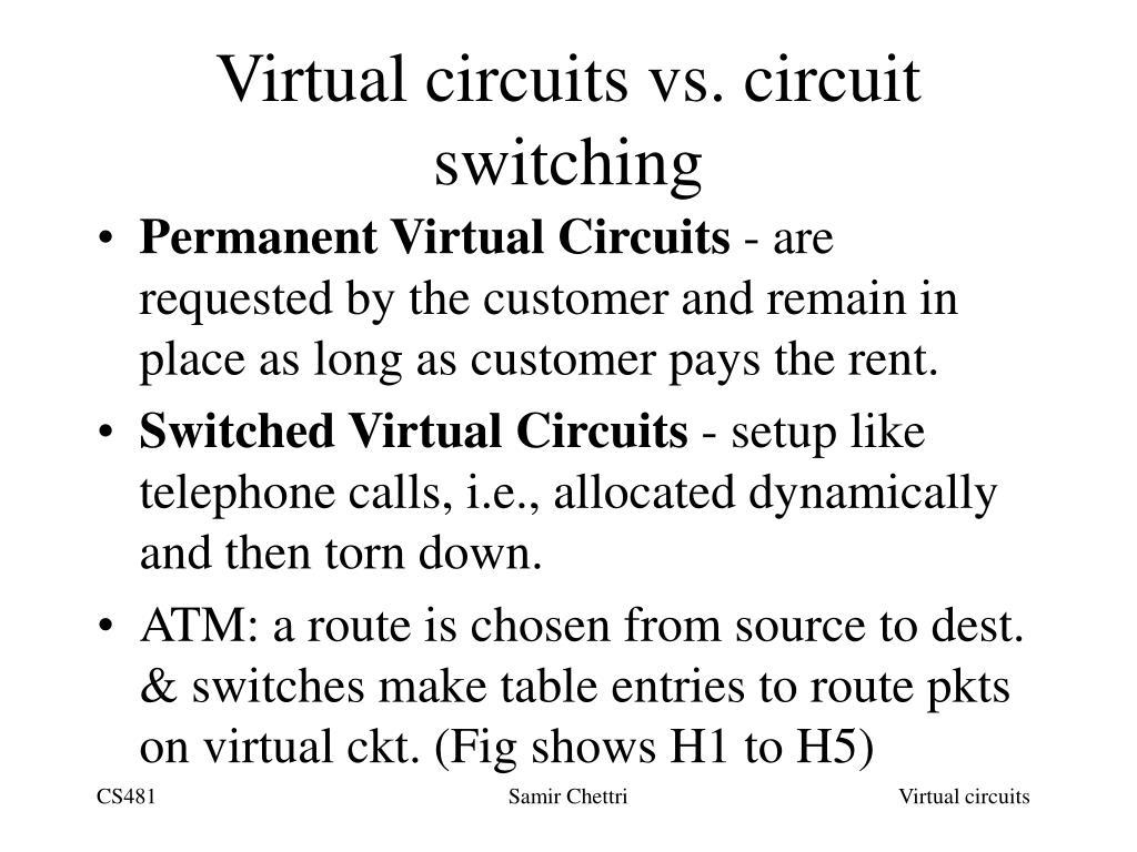 Virtual circuits vs. circuit switching