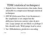 tdm statistical techniques
