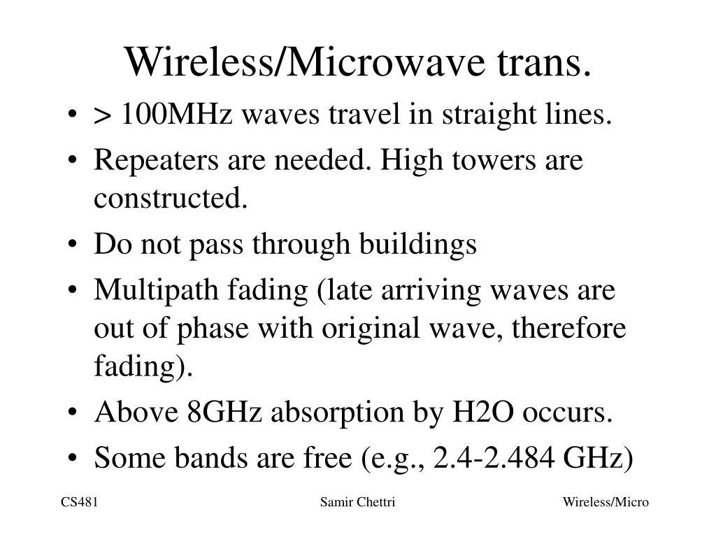 Wireless/Microwave trans.