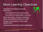 more learning objectives