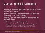 quotas tariffs subsidies