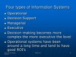 four types of information systems