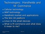 technologies handhelds and m commerce