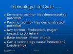 technology life cycle little 1981