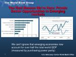 the real reason we re here private sector opportunities in emerging markets