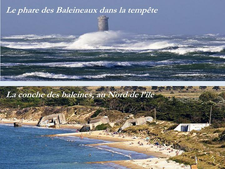 Le phare des Baleineaux dans la tempête