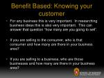 benefit based knowing your customer