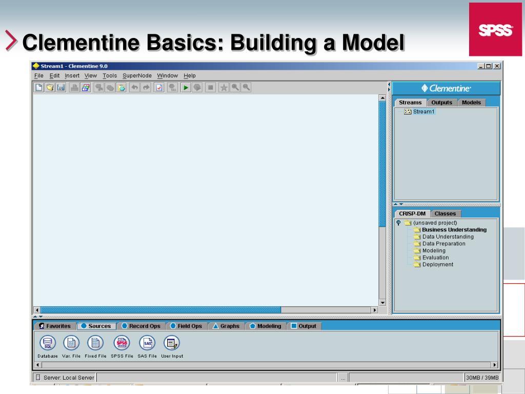 Clementine Basics: Building a Model