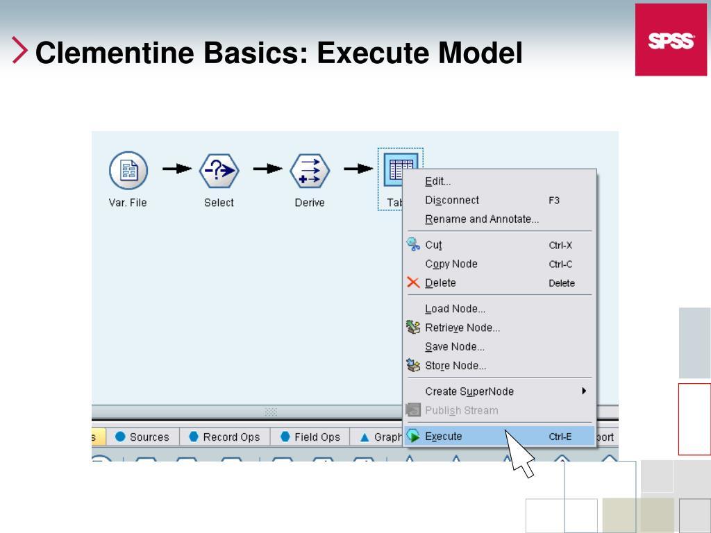 Clementine Basics: Execute Model