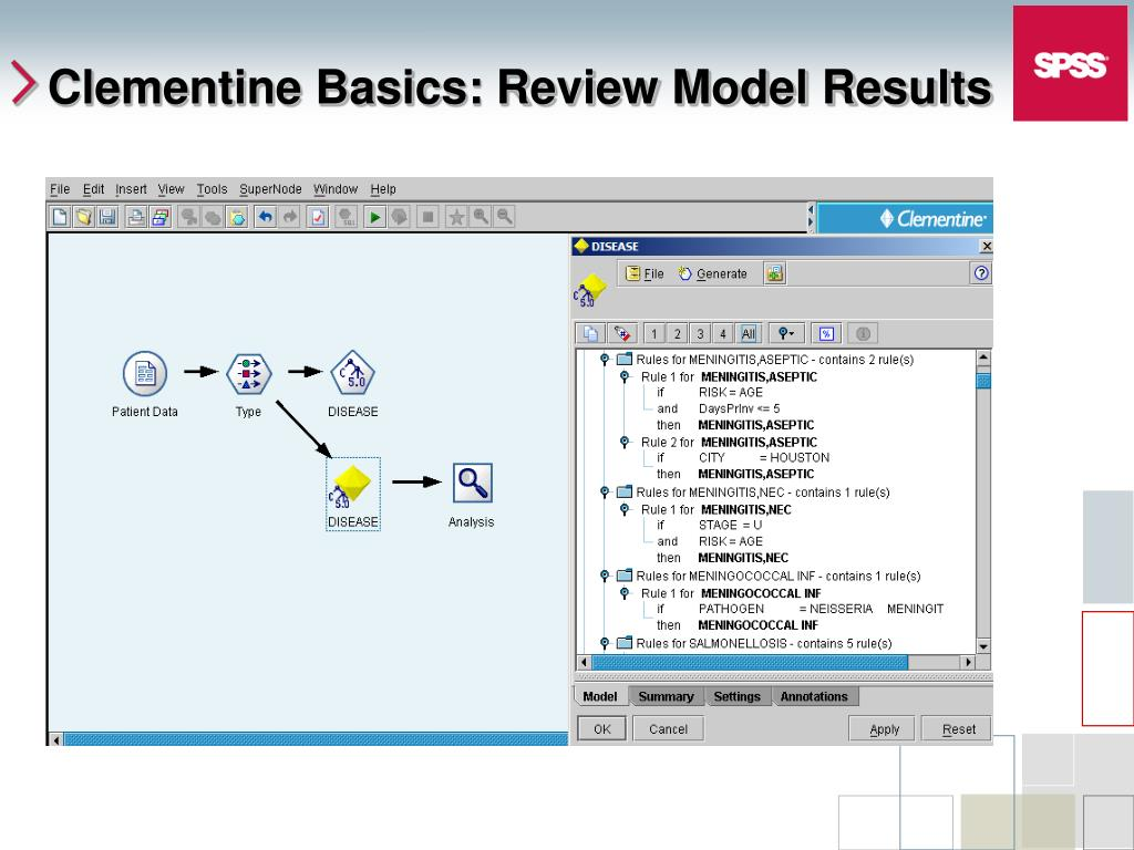 Clementine Basics: Review Model Results