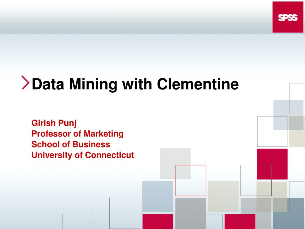 data mining with clementine l.