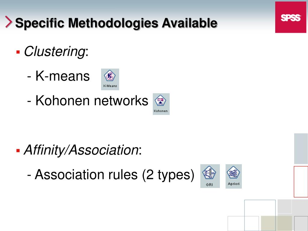 Specific Methodologies Available