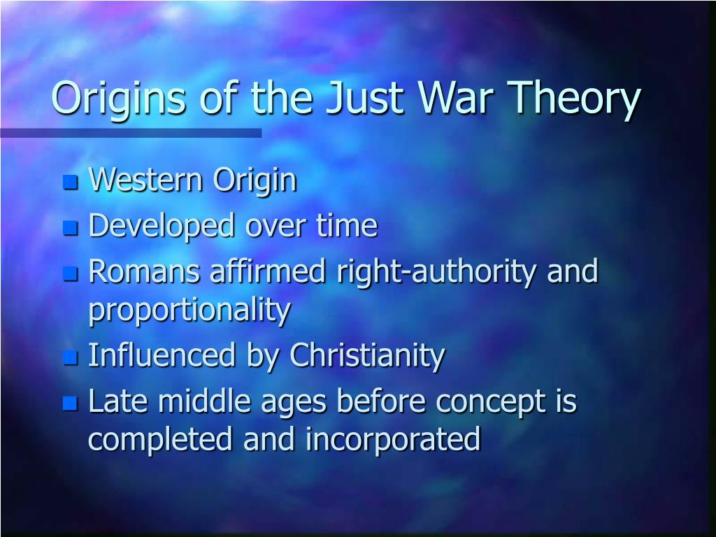 just war theories in the west
