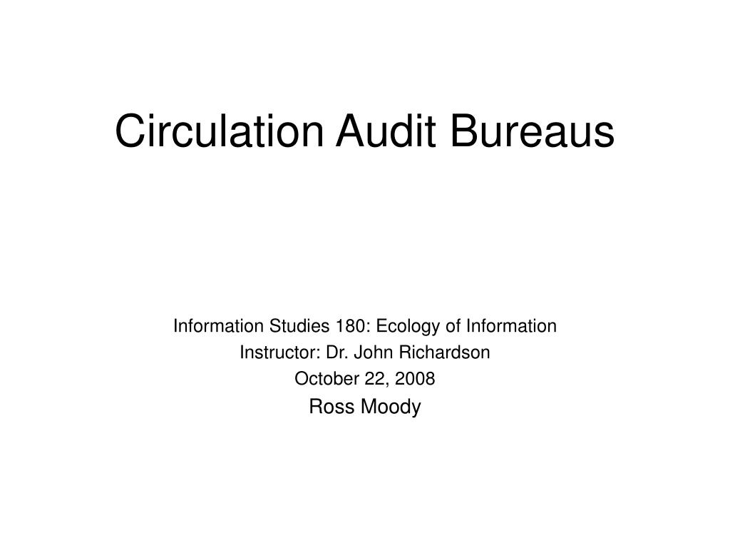 circulation audit bureaus l.