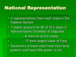 national representation