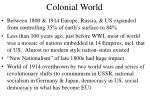 colonial world