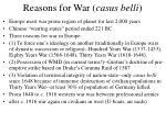 reasons for war casus belli