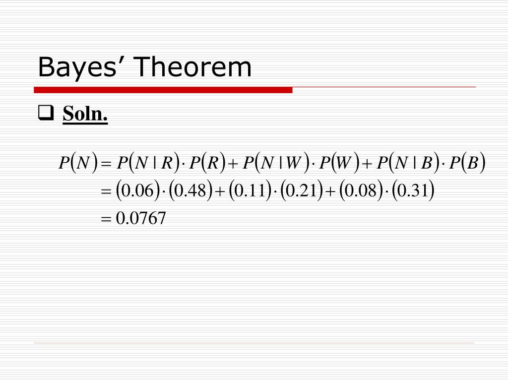 PPT - Bayes' Theorem PowerPoint Presentation - ID:483933