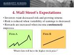 4 wall street s expectations