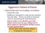 aggressive nature of enron