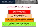 can ethical values be taught88