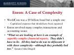 enron a case of complexity