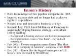 enron s history