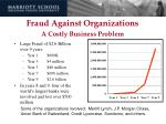 fraud against organizations a costly business problem