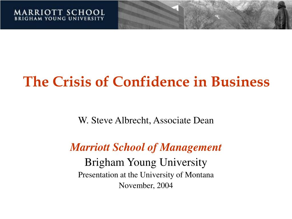the crisis of confidence in business