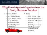 why fraud against organizations is a costly business problem18