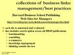 collections of business links management best practices