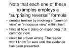 note that each one of these examples employs a surprising reversal formula