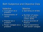 both subjective and objective data