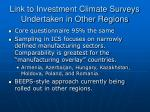 link to investment climate surveys undertaken in other regions