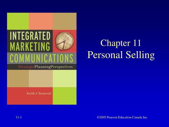 chapter 11 personal selling n.