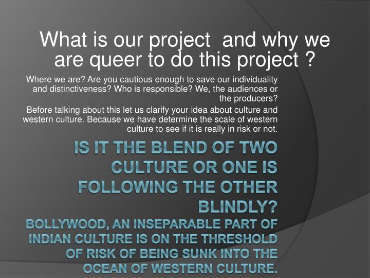 What is our project  and why we are queer to do this project ?