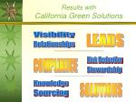 results with california green solutions