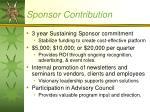 sponsor contribution