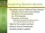 sustaining sponsor benefits
