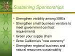 sustaining sponsorships