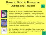 books to order to become an outstanding teacher