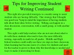 tips for improving student writing continued