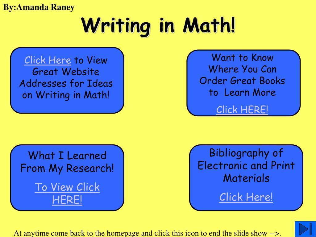 writing in math l.