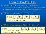 fermi s golden rule