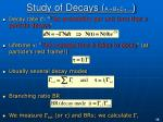 study of decays a b c