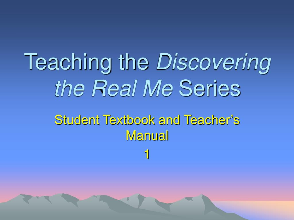 teaching the discovering the real me series l.