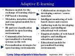adaptive e learning