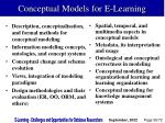 conceptual models for e learning