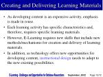 creating and delivering learning materials
